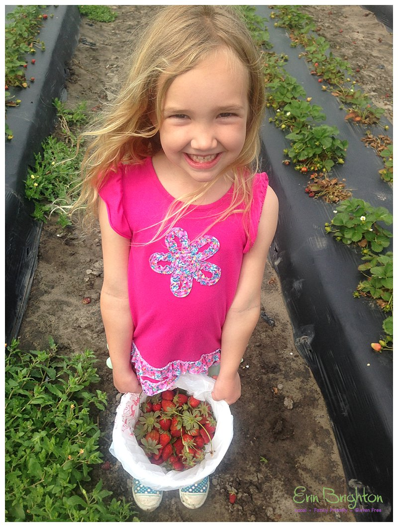 Noelle Picking Strawberries