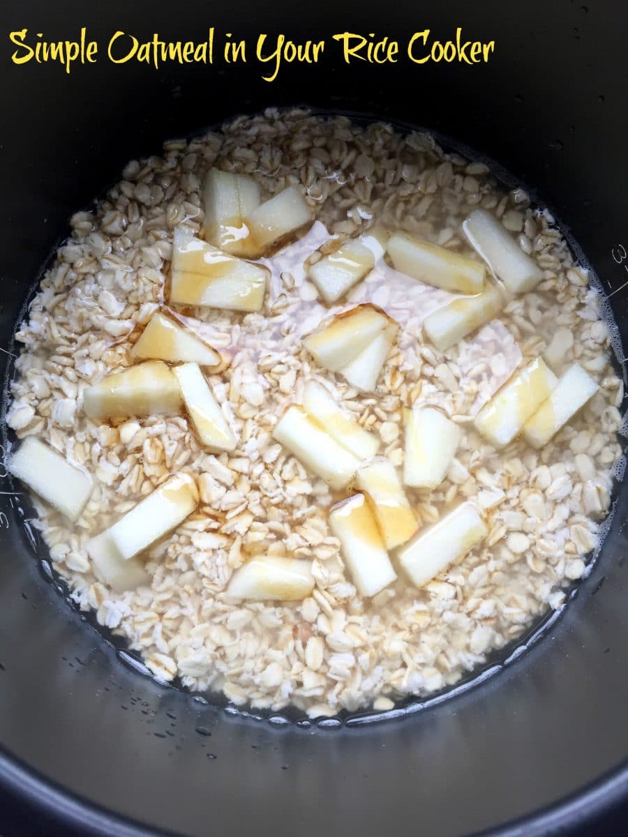 How to cook oatmeal in a rice cooker