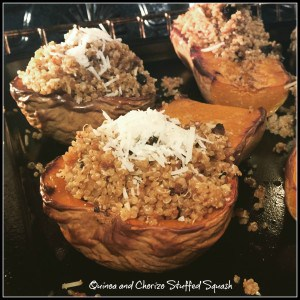 Quinoa and Chorizo Stuffed Squash