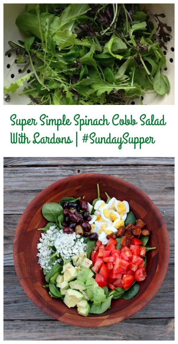 Super Simple Spinach Cobb Salad With Lardons
