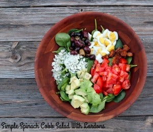 Spinach Cobb Salad With Lardons / #SundaySupper