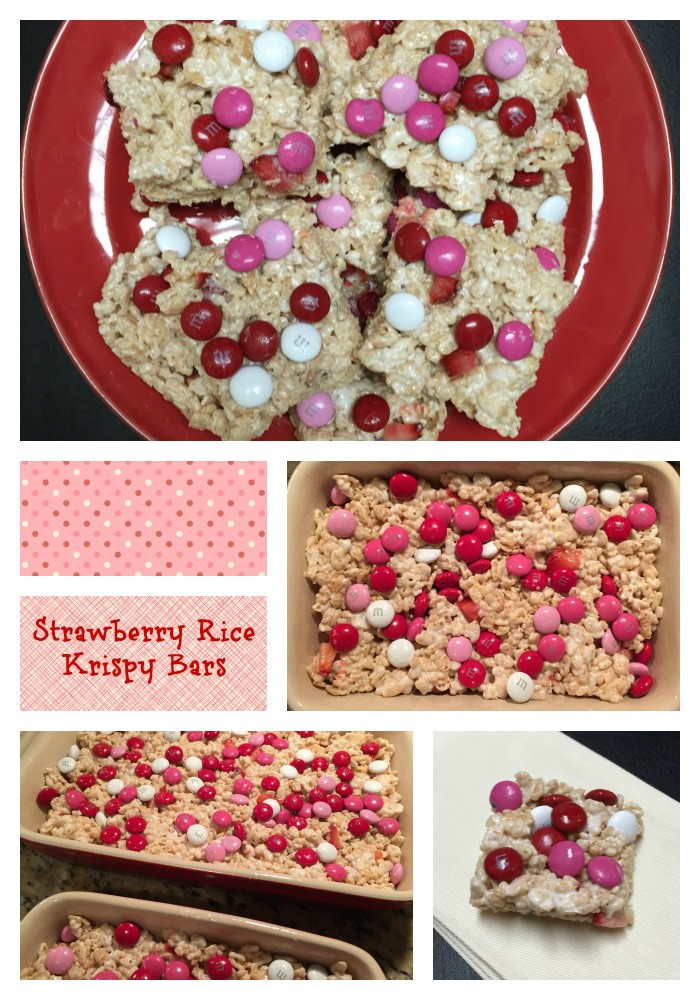 Strawberry Rice Krispy Treats #foodbloggerlove