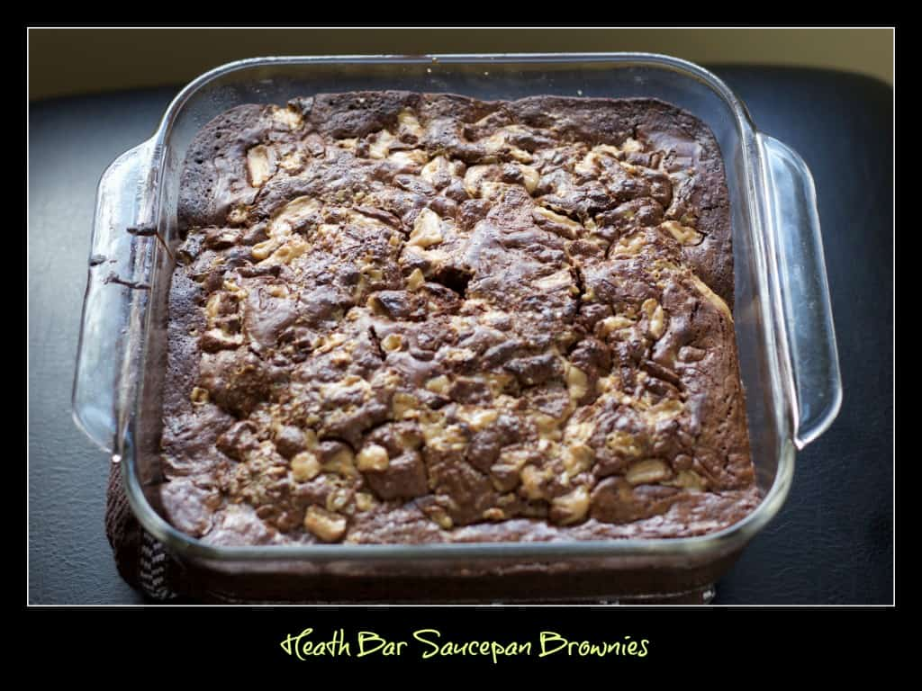 Heath bar saucepan brownies photo