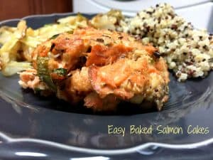 Easy Baked Salmon Cakes || Erin Brighton | gluten free | seafood recipes | dinner