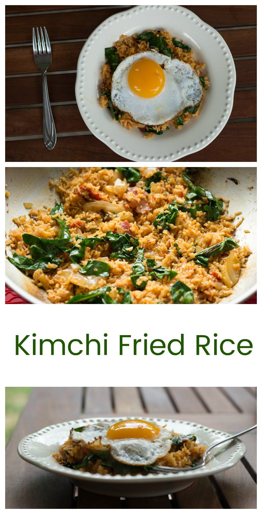 Kimchi Fried Rice With Kale || Erin Brighton | vegetarian | gluten free recipes | easy dinners