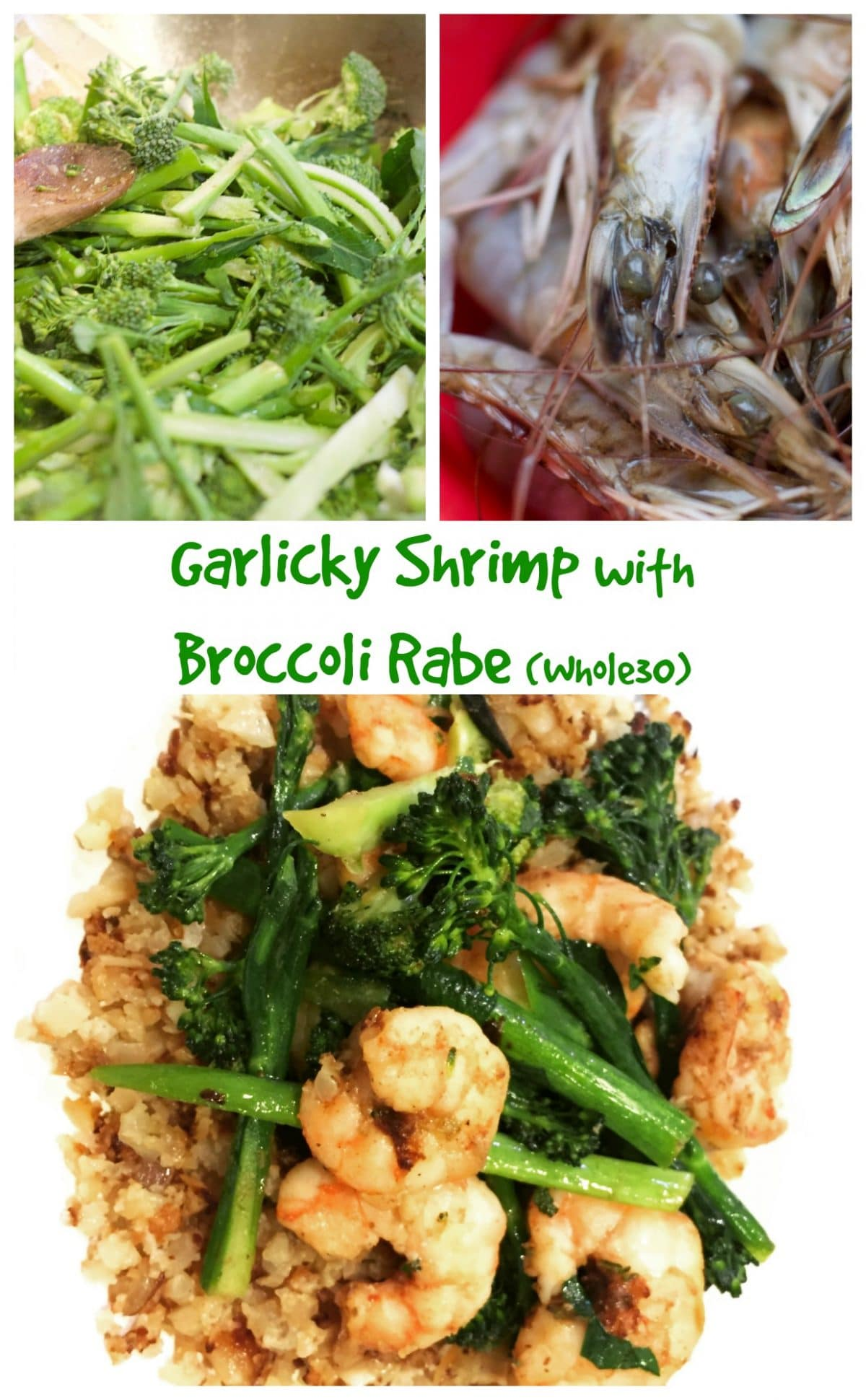 Garlicky Shrimp With Broccoli Rabe || Erin Brighton | gluten free | seafood | easy dinners | eat local | Got To Be NC