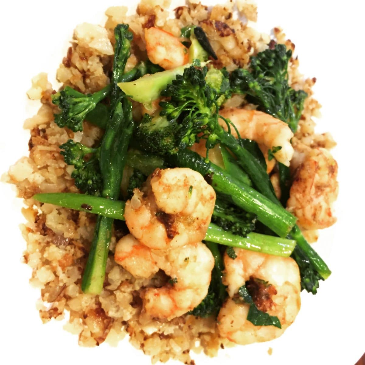 Garlicky Shrimp With Broccoli Rabe || Erin Brighton | gluten free | easy dinners | seafood | family friendly | Got To Be NC | eat local