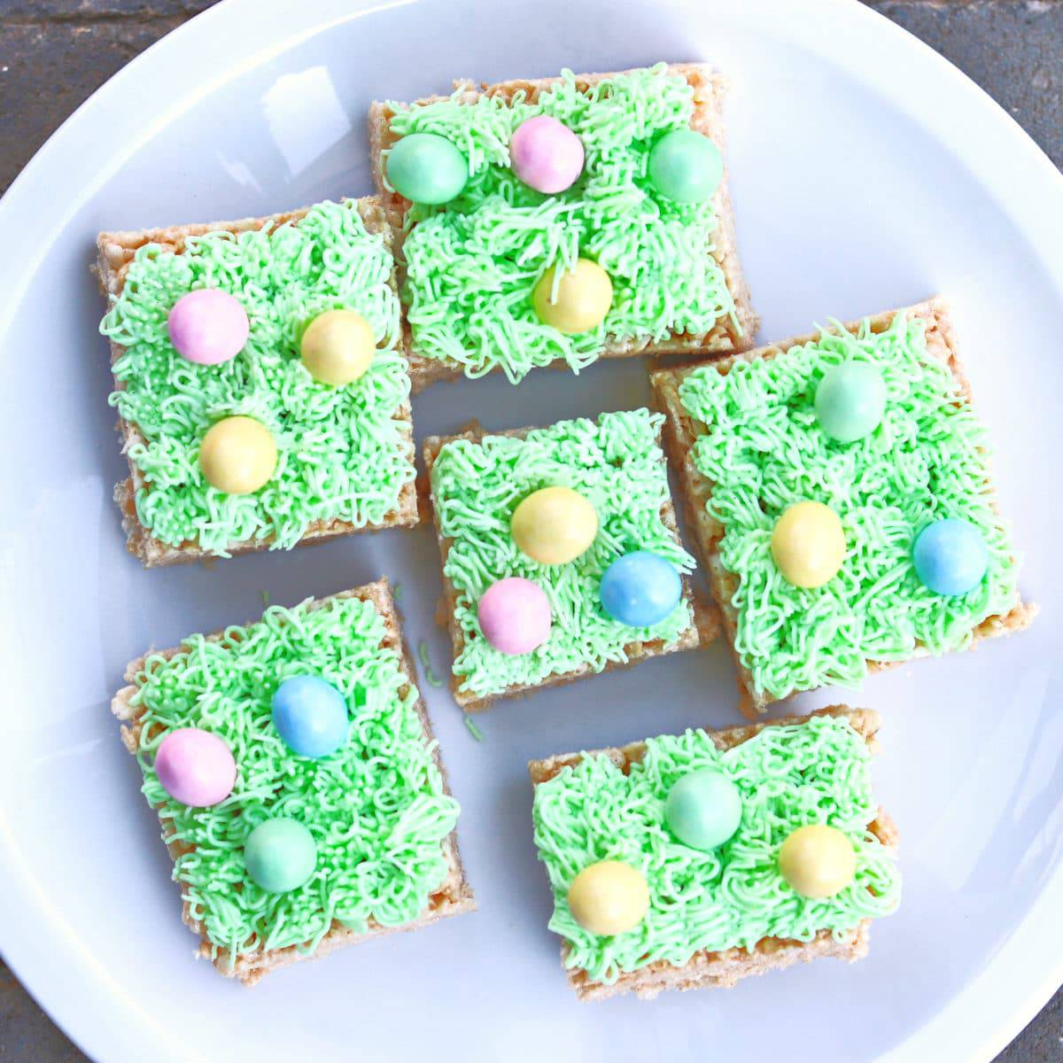 Easter Egg Rice Crispy Treats With Frosting