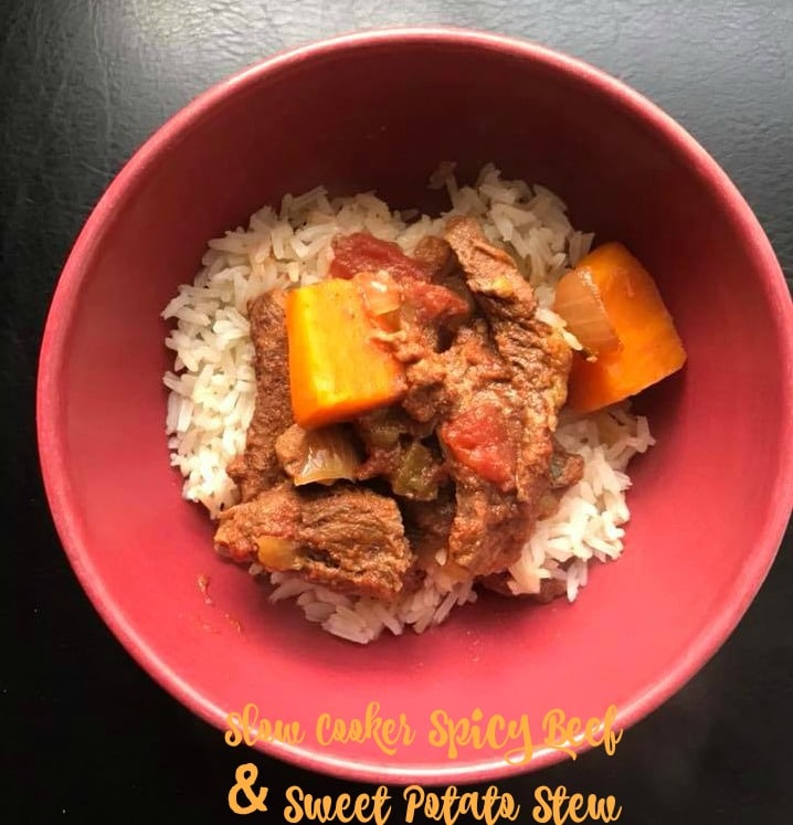 Spicy Beef and Sweet Potato Stew || Erin Brighton | gluten free | slow cooker | family dinners | easy recipes