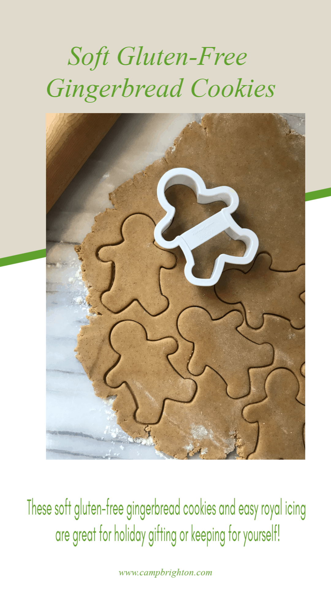 Soft Gluten-free Gingerbread Cookies With Easy Royal Icing
