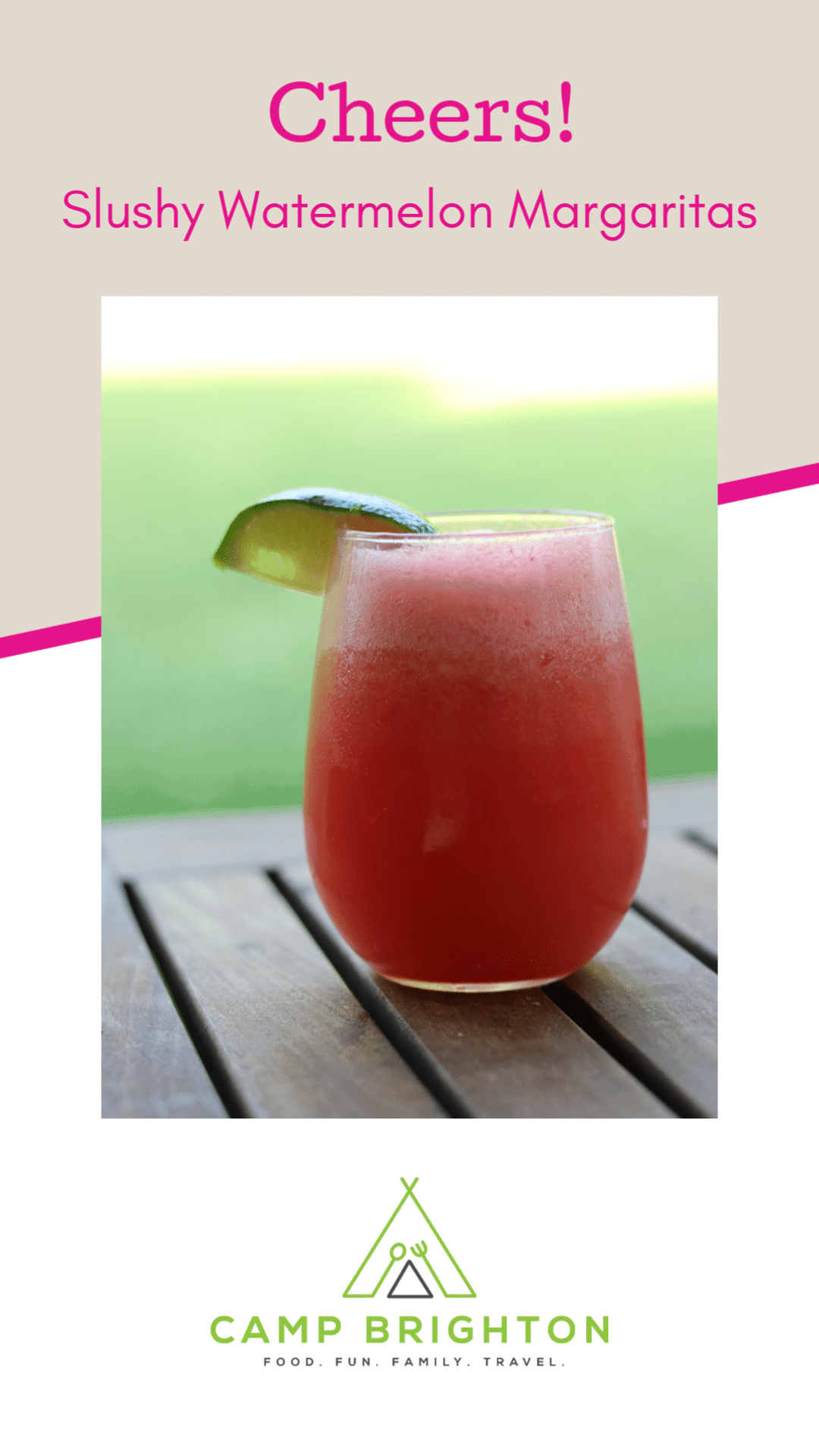 Cheers! Slushy Watermelon Margarita!